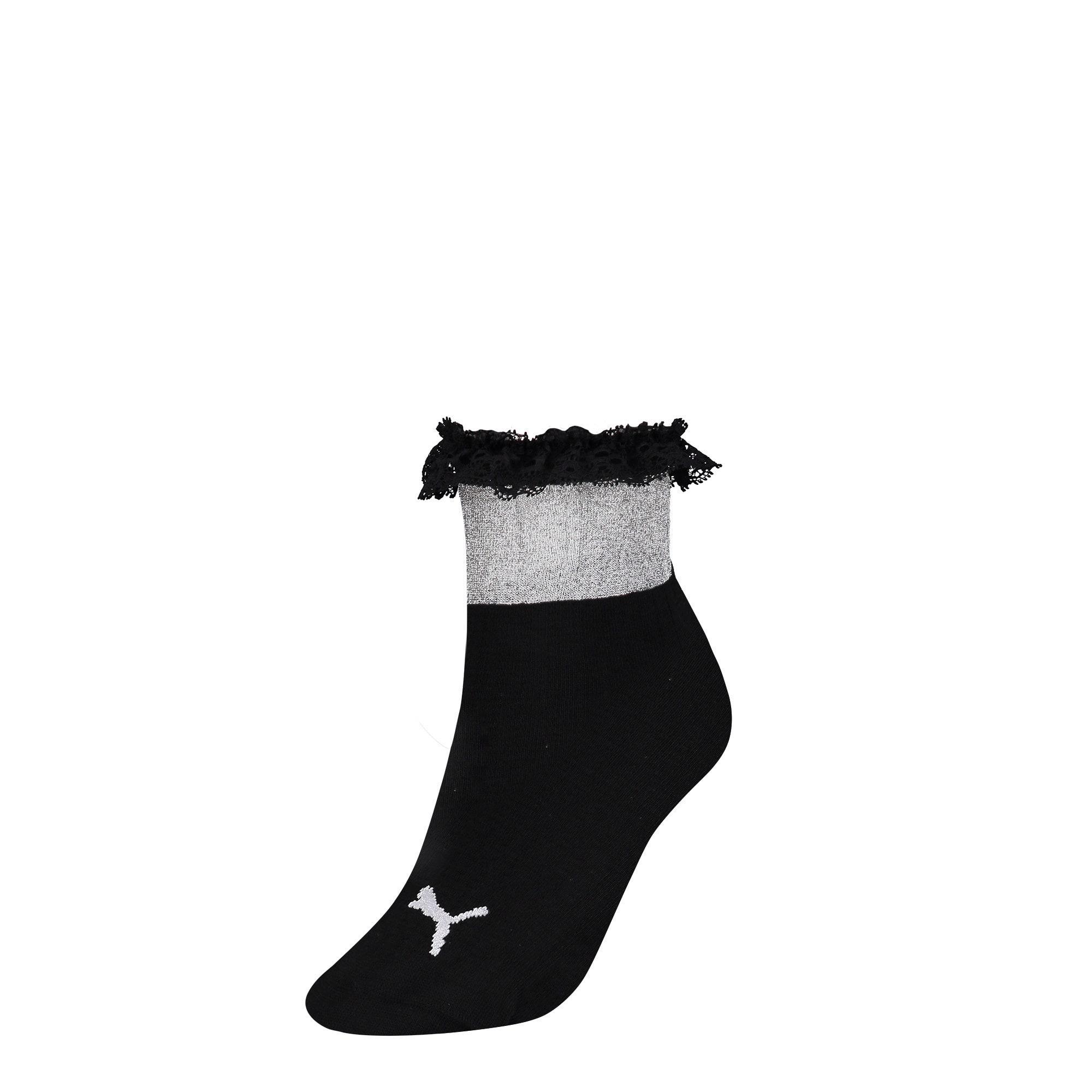Thumbnail 1 of PUMA x SG Ruffle Short Crew Socks, black, medium