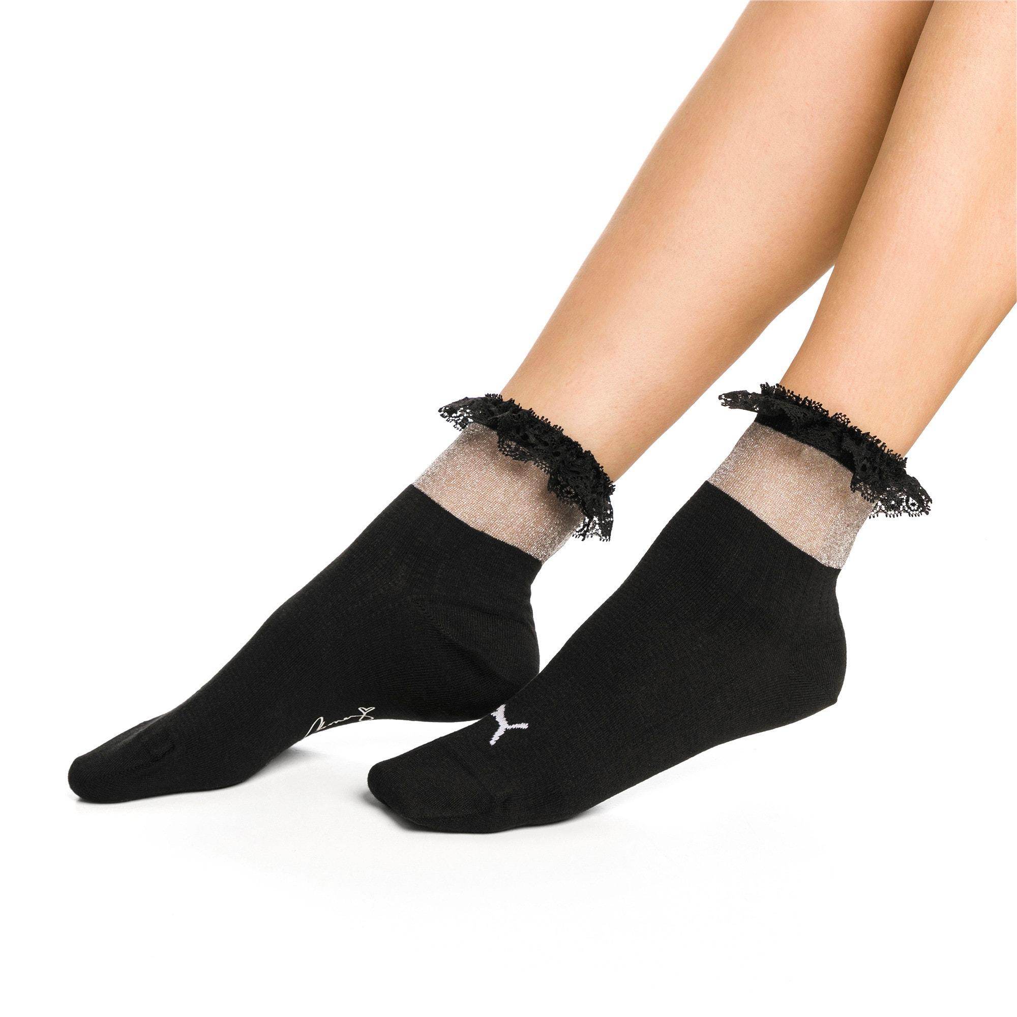 Thumbnail 2 of PUMA x SG Ruffle Short Crew Socks, black, medium