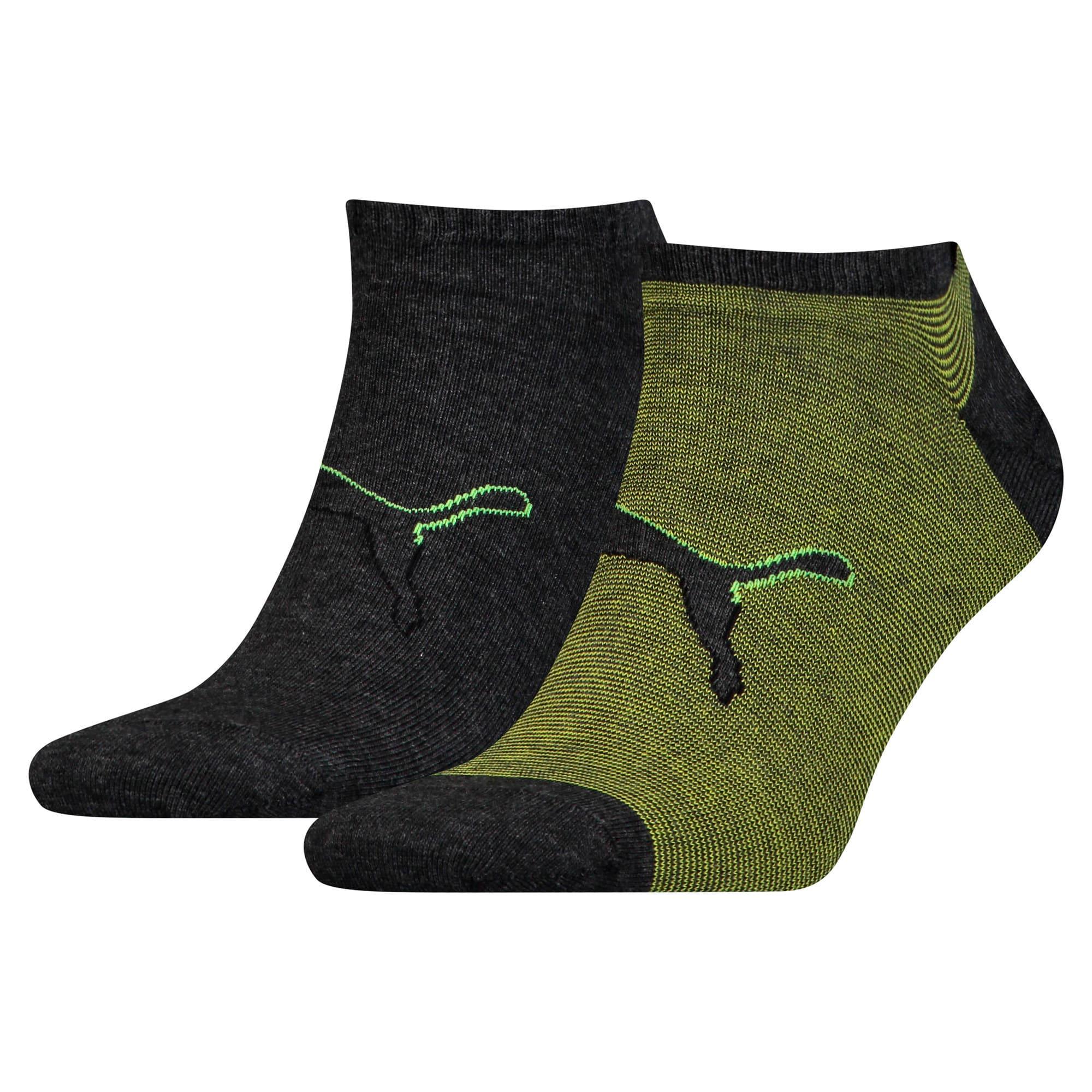 Thumbnail 1 of Big Cat Trainer Socks 2 Pack, black / yellow, medium