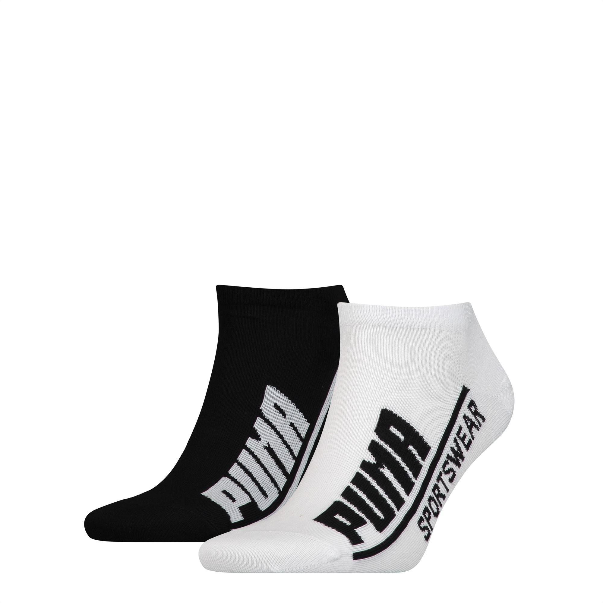 PUMA Logo Herren Sneaker Socken 2er Pack | black / white | PUMA