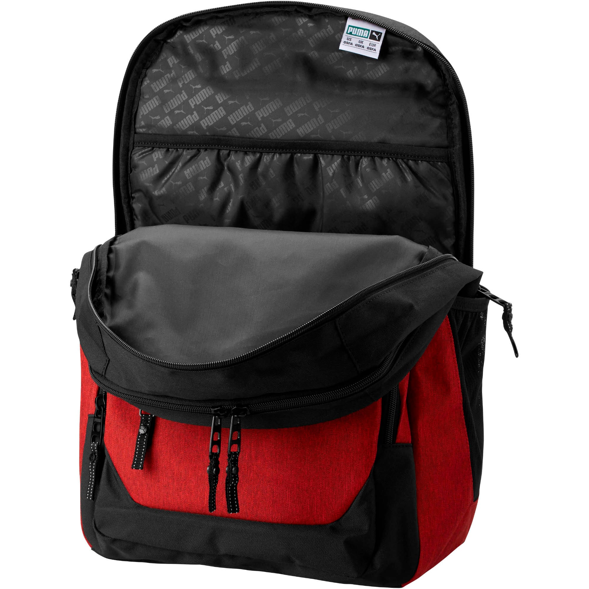 Thumbnail 2 of PUMA Everready Backpack, Red/Black, medium