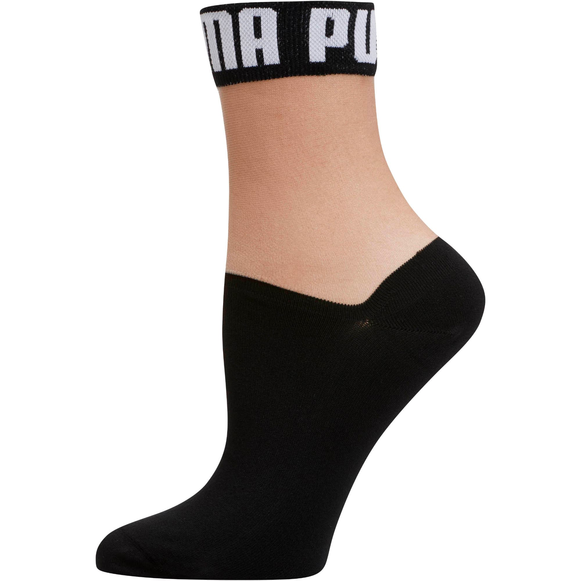 Thumbnail 1 of Women's Low Crew Socks [1 Pair], BLACK / WHITE, medium