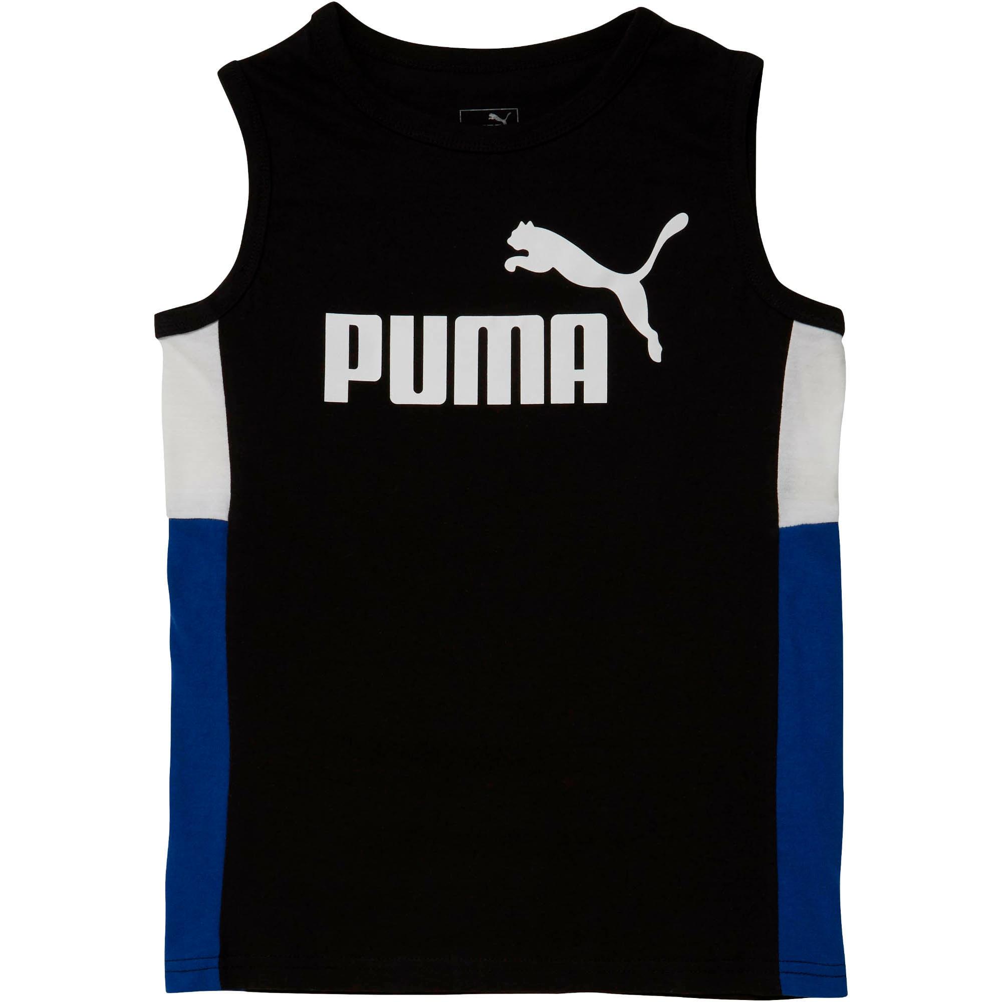 Thumbnail 1 of Boys' Color Block Muscle Tank JR, PUMA BLACK, medium