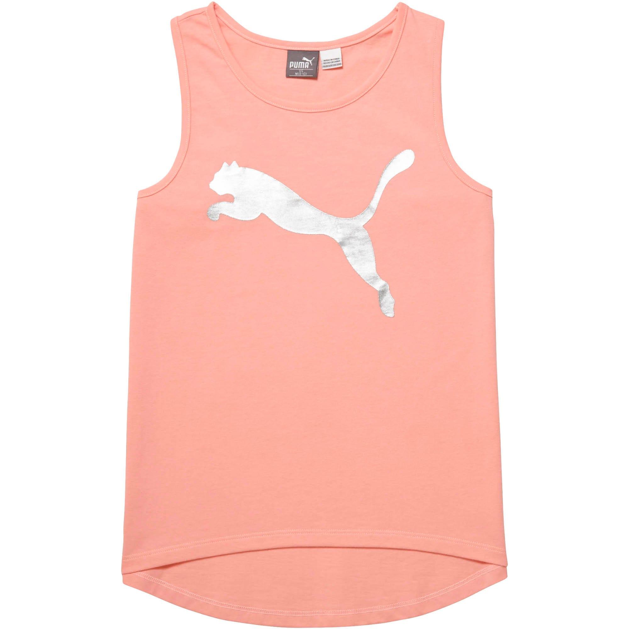 Thumbnail 1 of Girls' Cotton Jersey Fashion Tank JR, PEACH BUD, medium