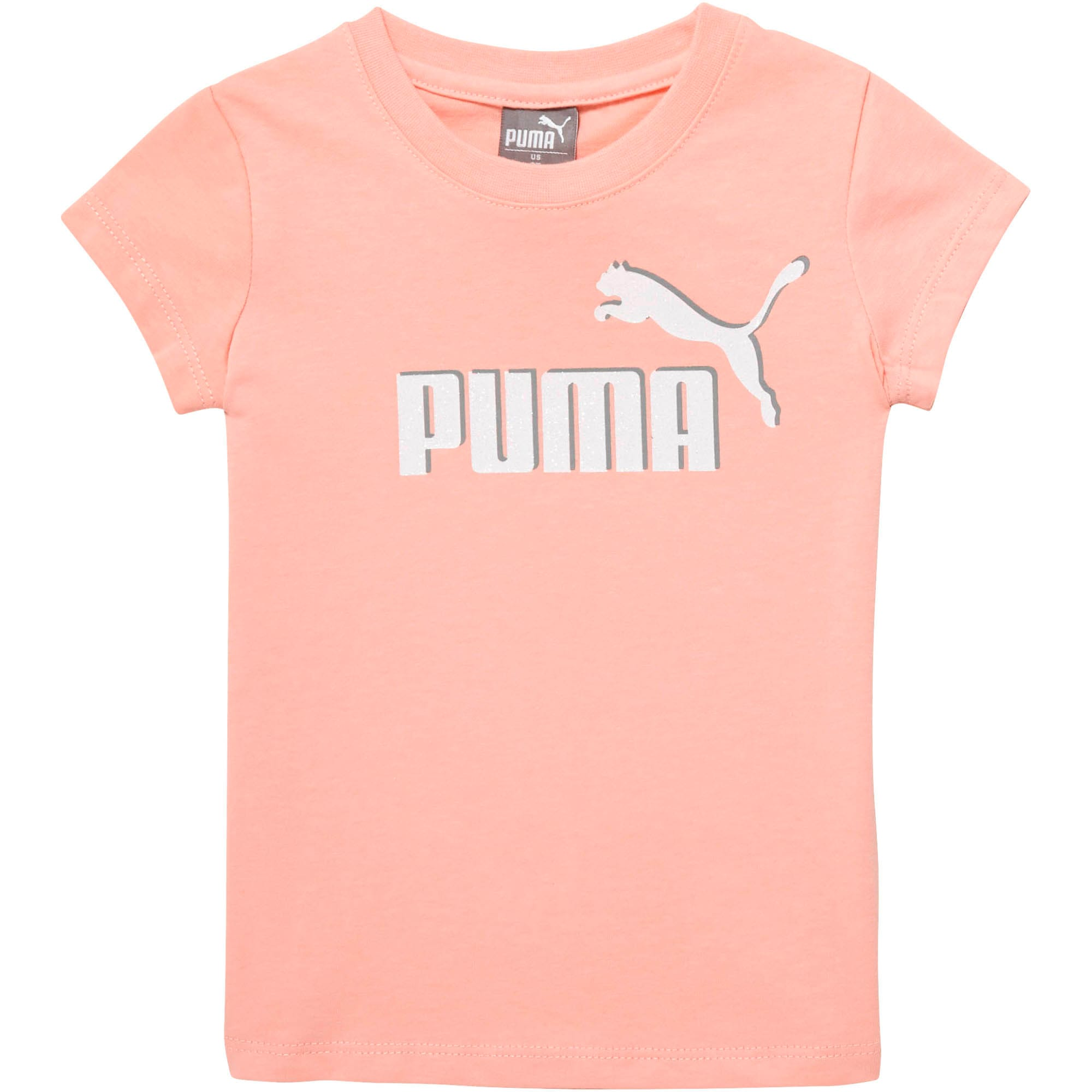 Miniatura 1 de Camiseta de jersey de algodón con logo para bebés, PEACH BUD, mediano
