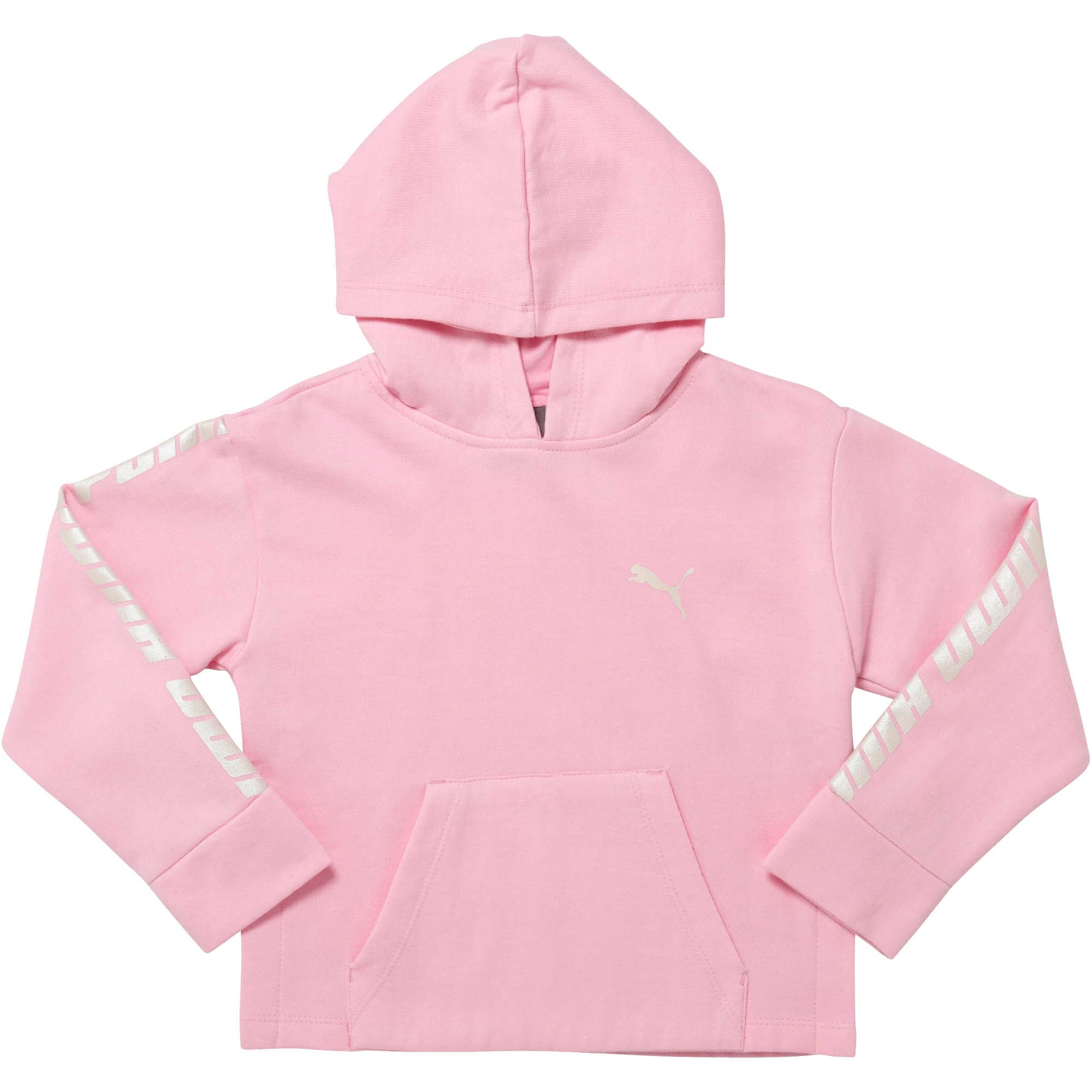 Little Kids' Fleece Pullover Hoodie, PALE PINK, large