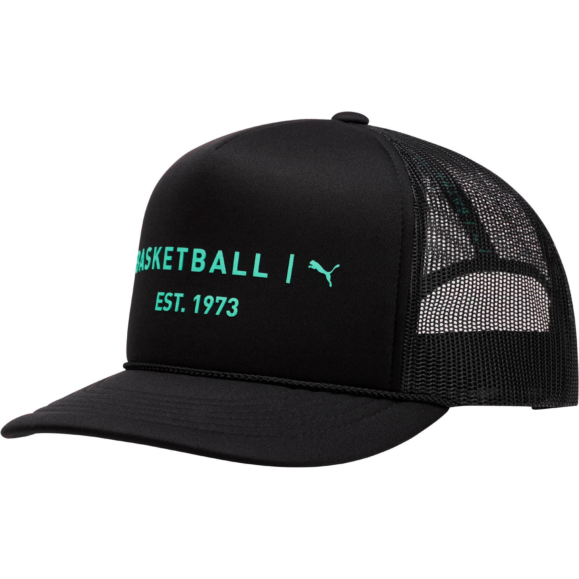 Thumbnail 1 of Core Mesh Trucker Hat, BLACK/GREEN, medium
