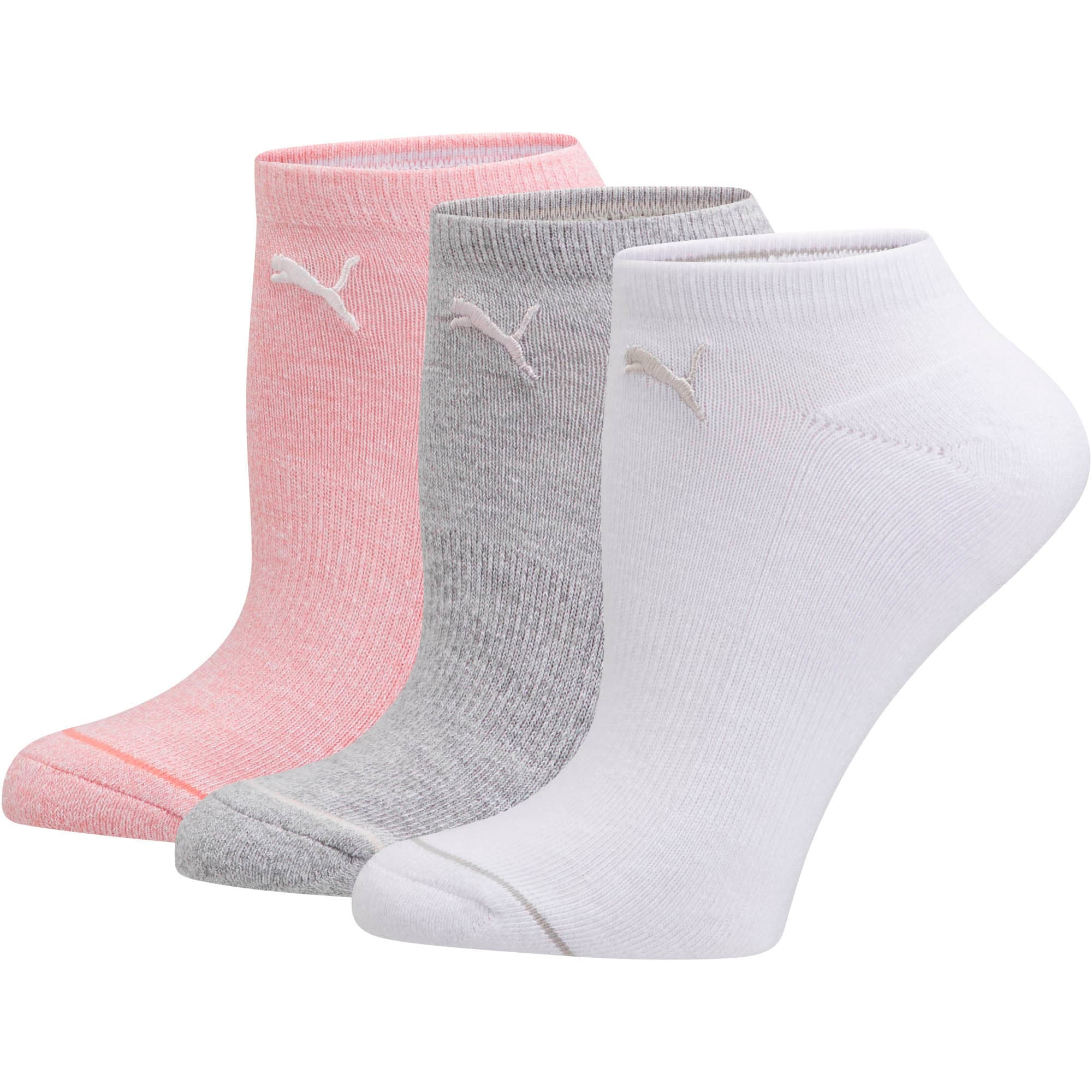 Women's No Show Socks [3 Pack], PSTL COMBO, large