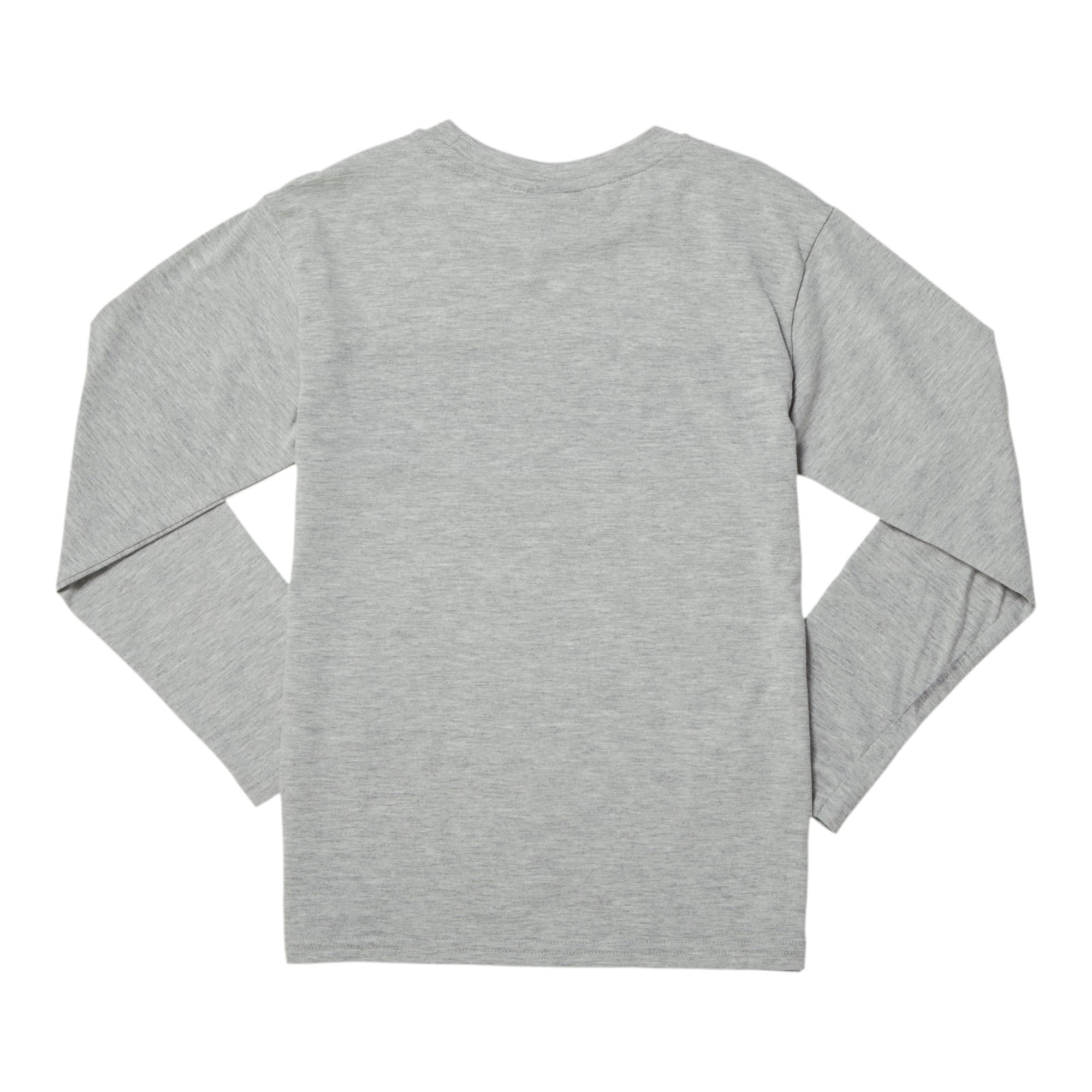 Thumbnail 2 of Amplified Pack Boys' Pieced Long Sleeve Tee JR, LT HEATHER GREY, medium