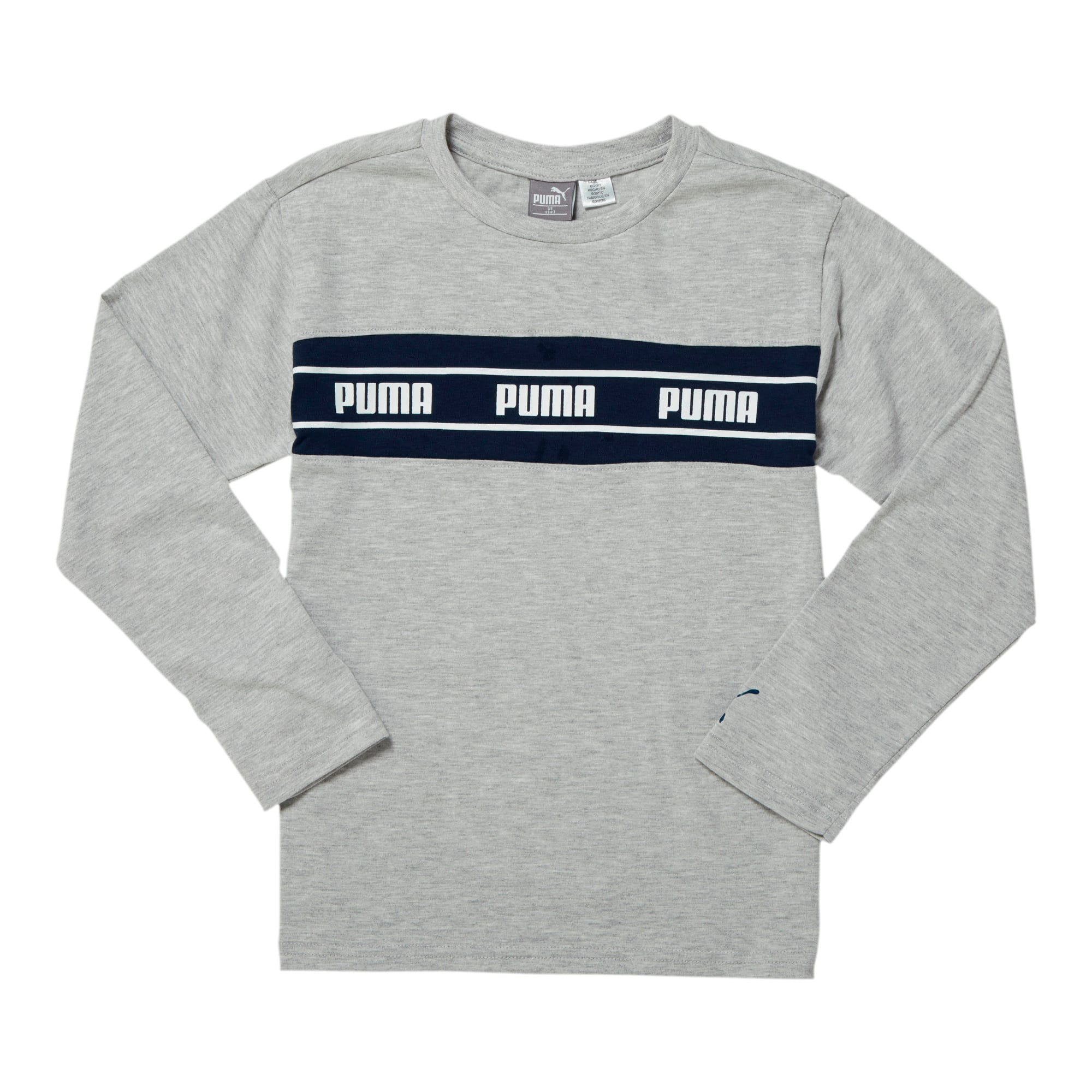 Thumbnail 1 of Amplified Pack Boys' Pieced Long Sleeve Tee JR, LT HEATHER GREY, medium
