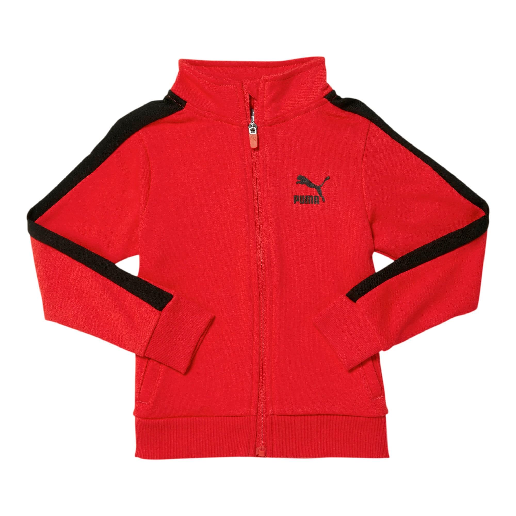 Thumbnail 1 of Little Kids' T7 Track Jacket, HIGH RISK RED, medium