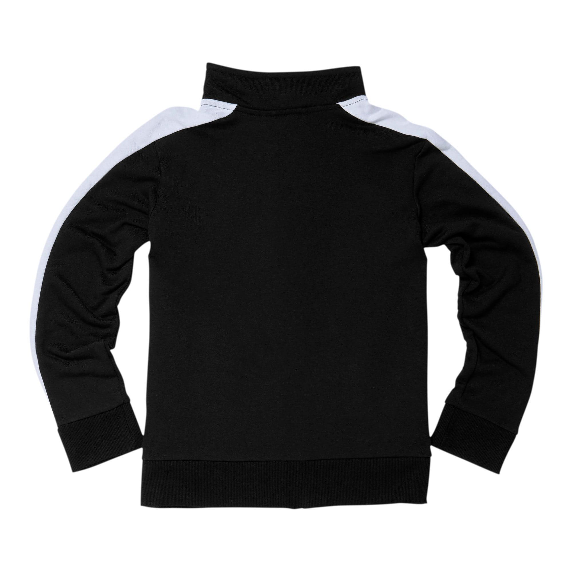 Thumbnail 2 of Boys' T7 Track Jacket JR, PUMA BLACK/WHITE, medium