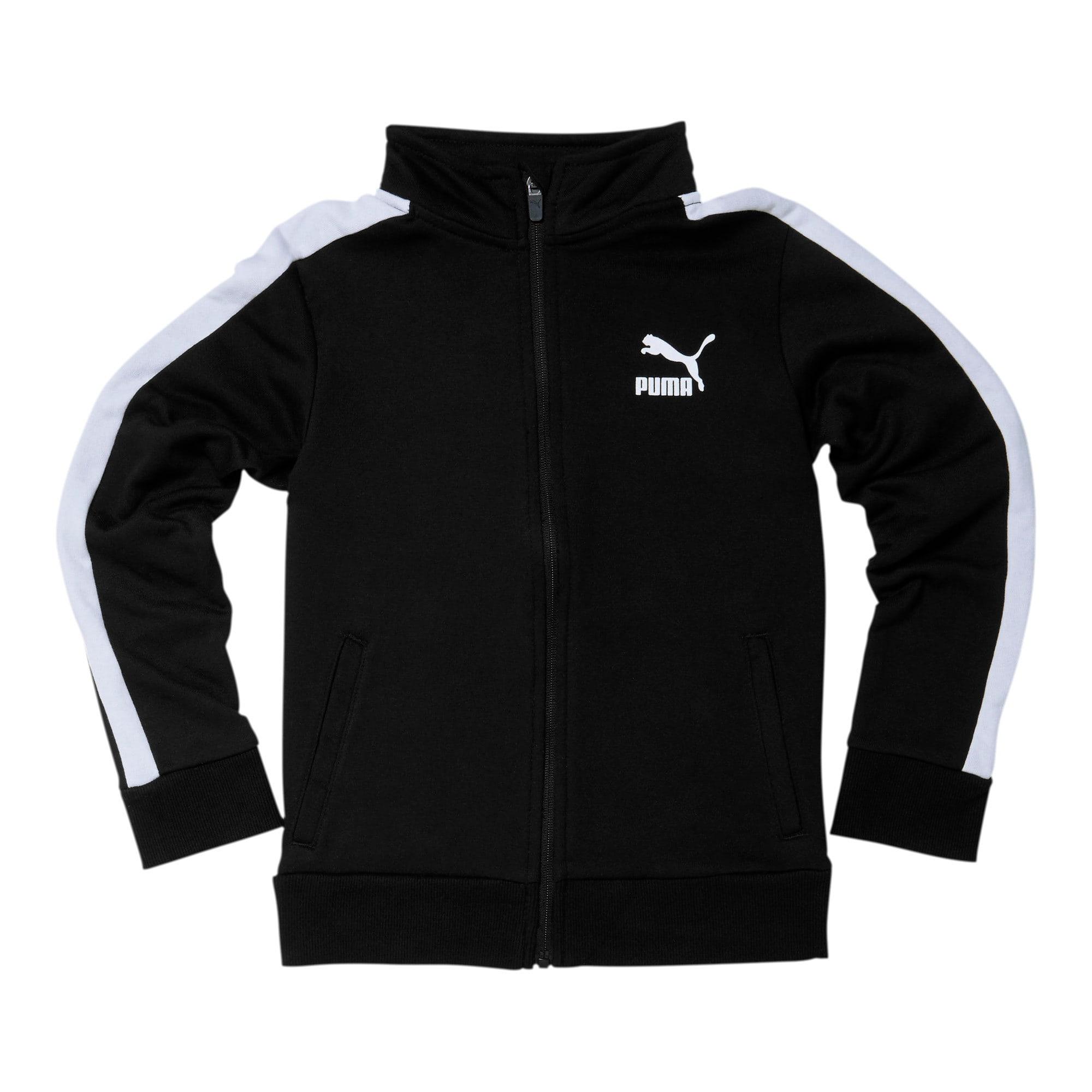 Thumbnail 1 of Boys' T7 Track Jacket JR, PUMA BLACK/WHITE, medium