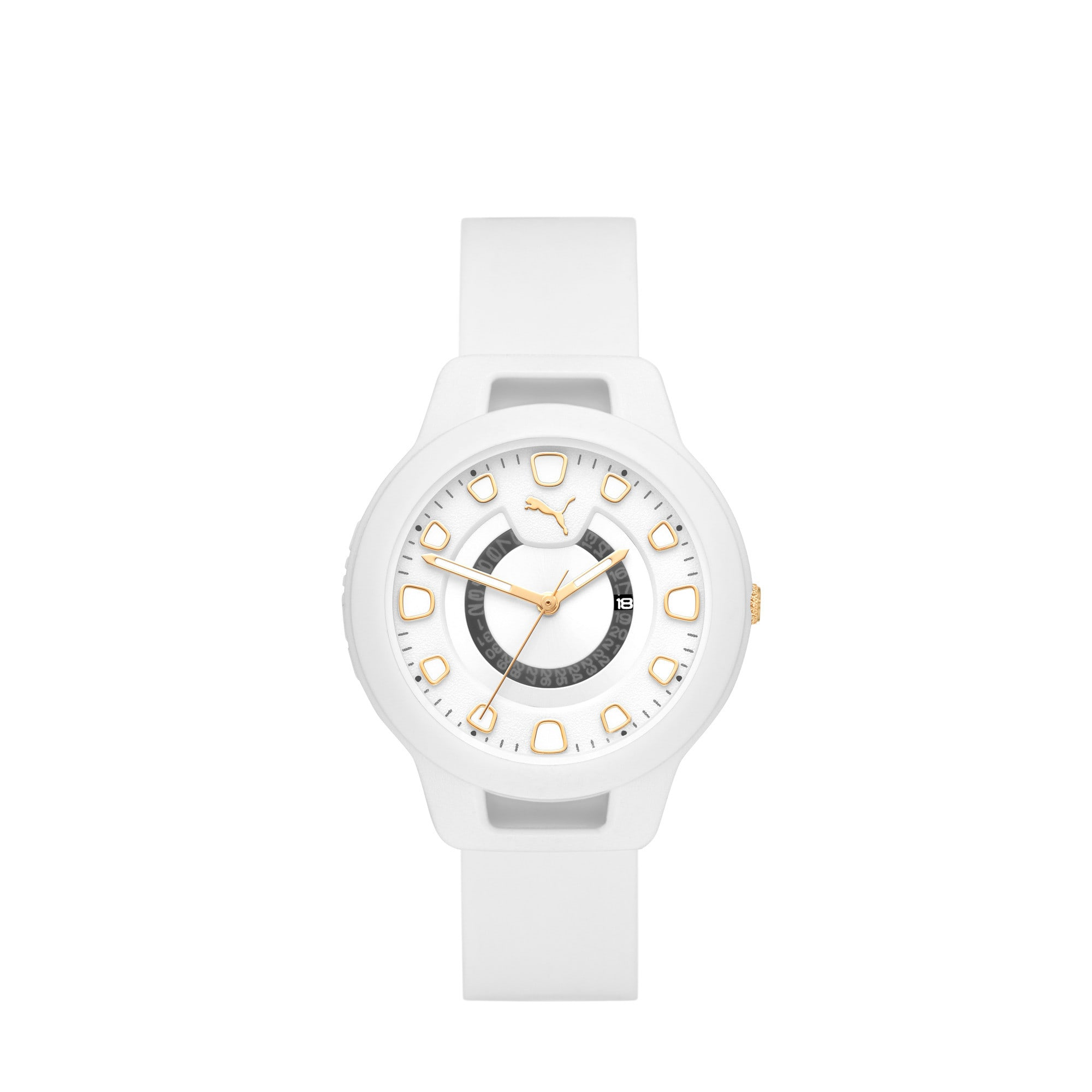 Thumbnail 1 of Reset Silicone V1 Women's Watch, White/White, medium