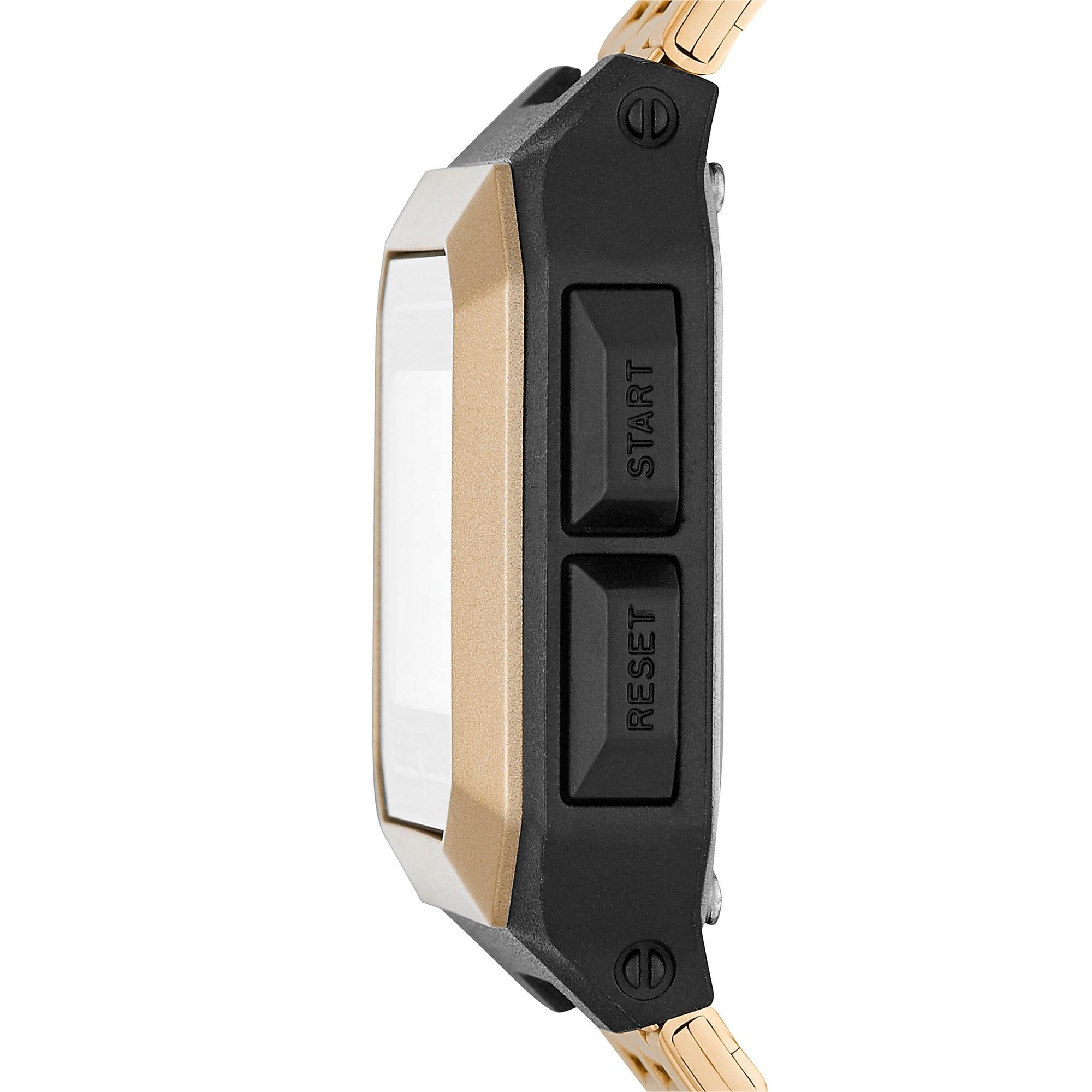 Thumbnail 3 of Remix Gold Stainless Steel Digital Watch, Gold/Black, medium