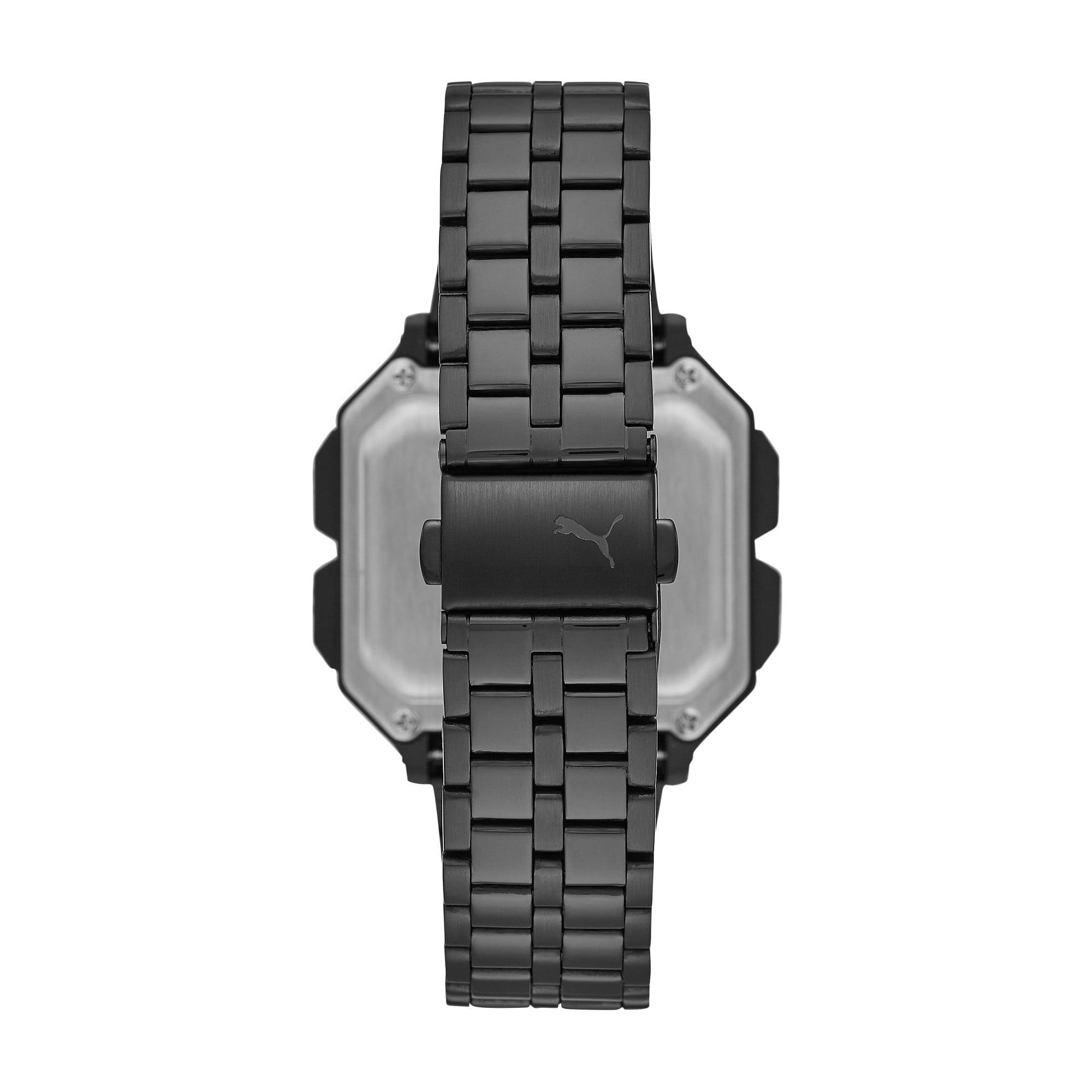 Thumbnail 2 of Remix Black Stainless Steel Digital Watch, Black/Black, medium