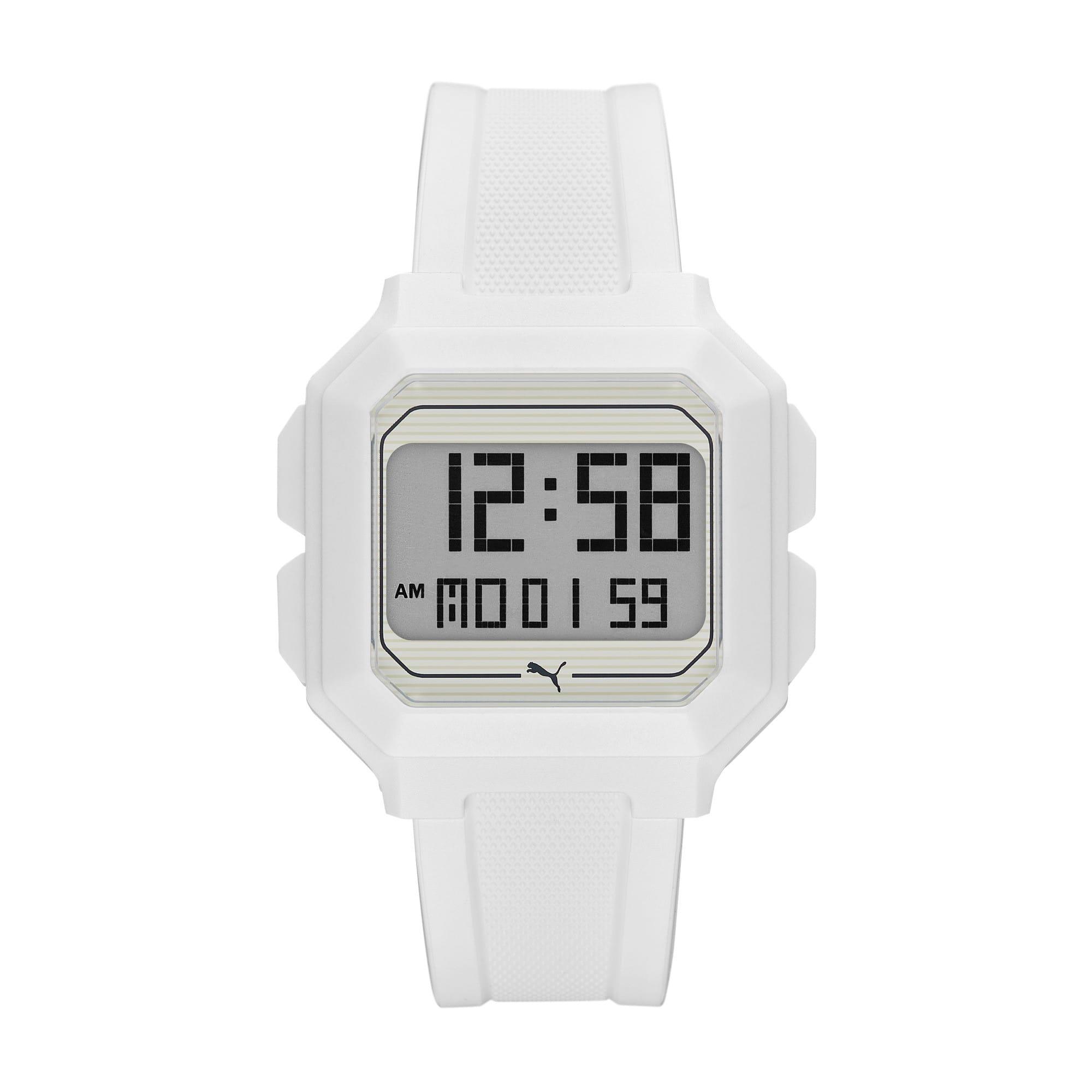 Thumbnail 1 of Remix White Digital Watch, White/White, medium