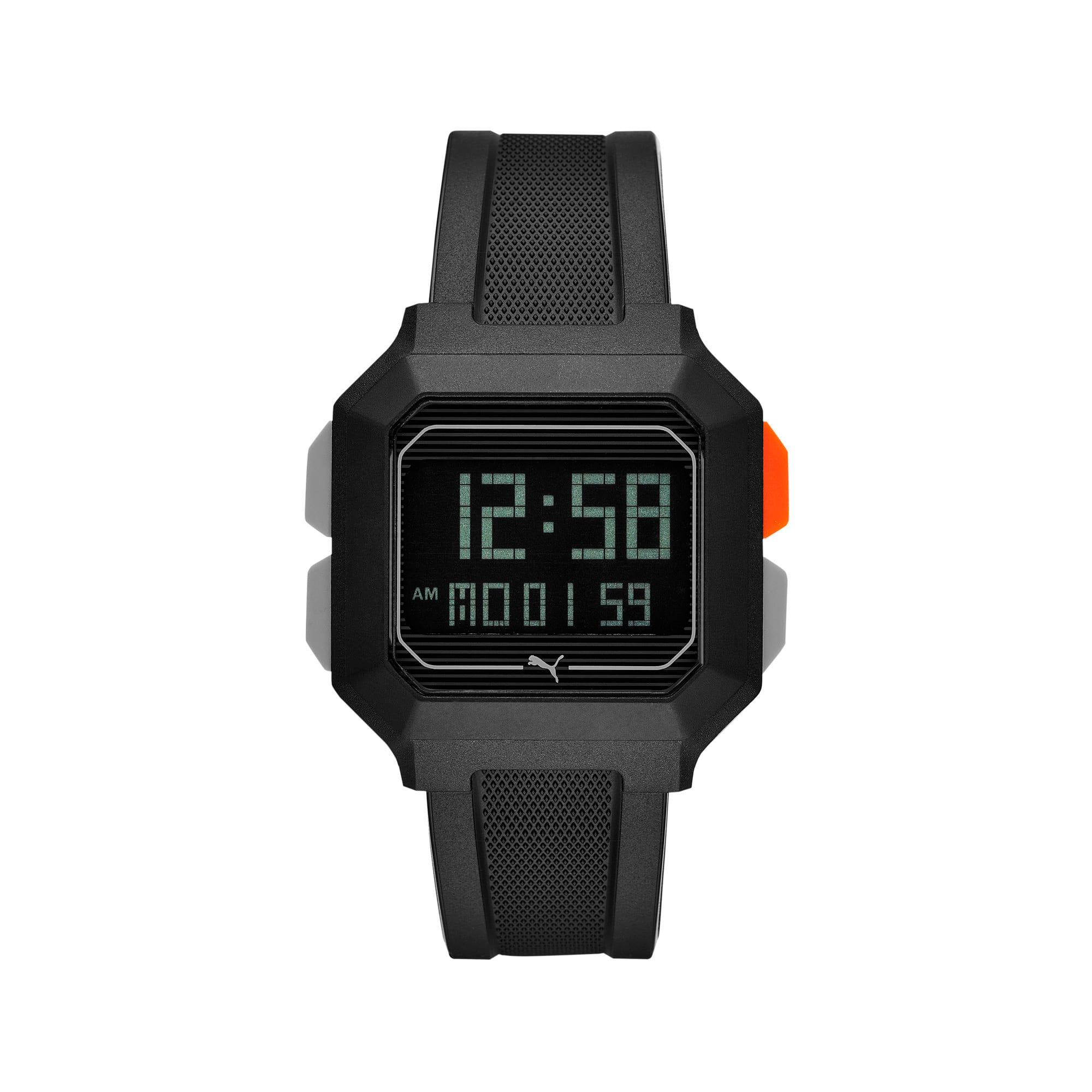 Thumbnail 1 of Reset Black Digital Watch, Black/Black, medium