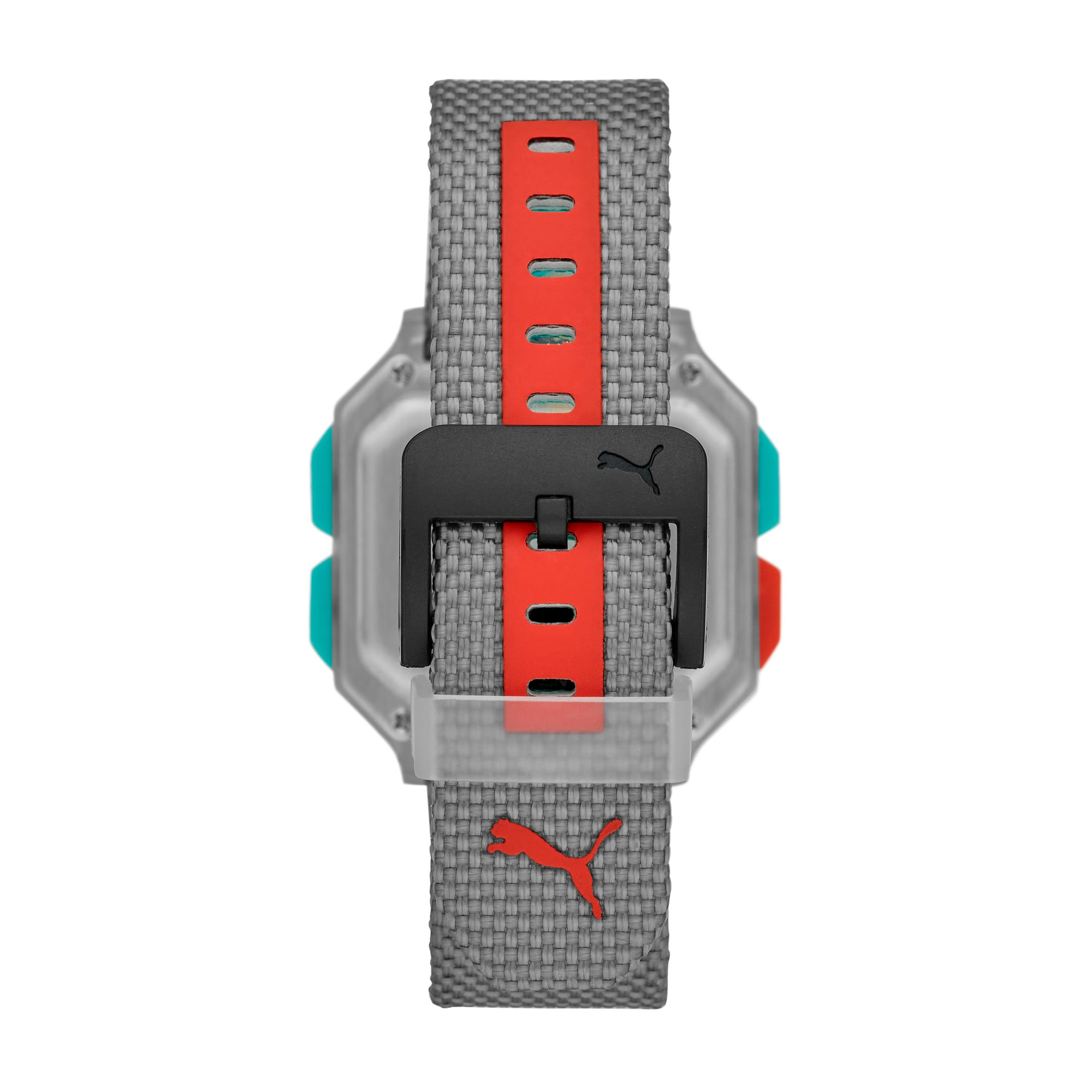 Thumbnail 2 of Remix Gray Nylon Digital Watch, Clear/Gray, medium