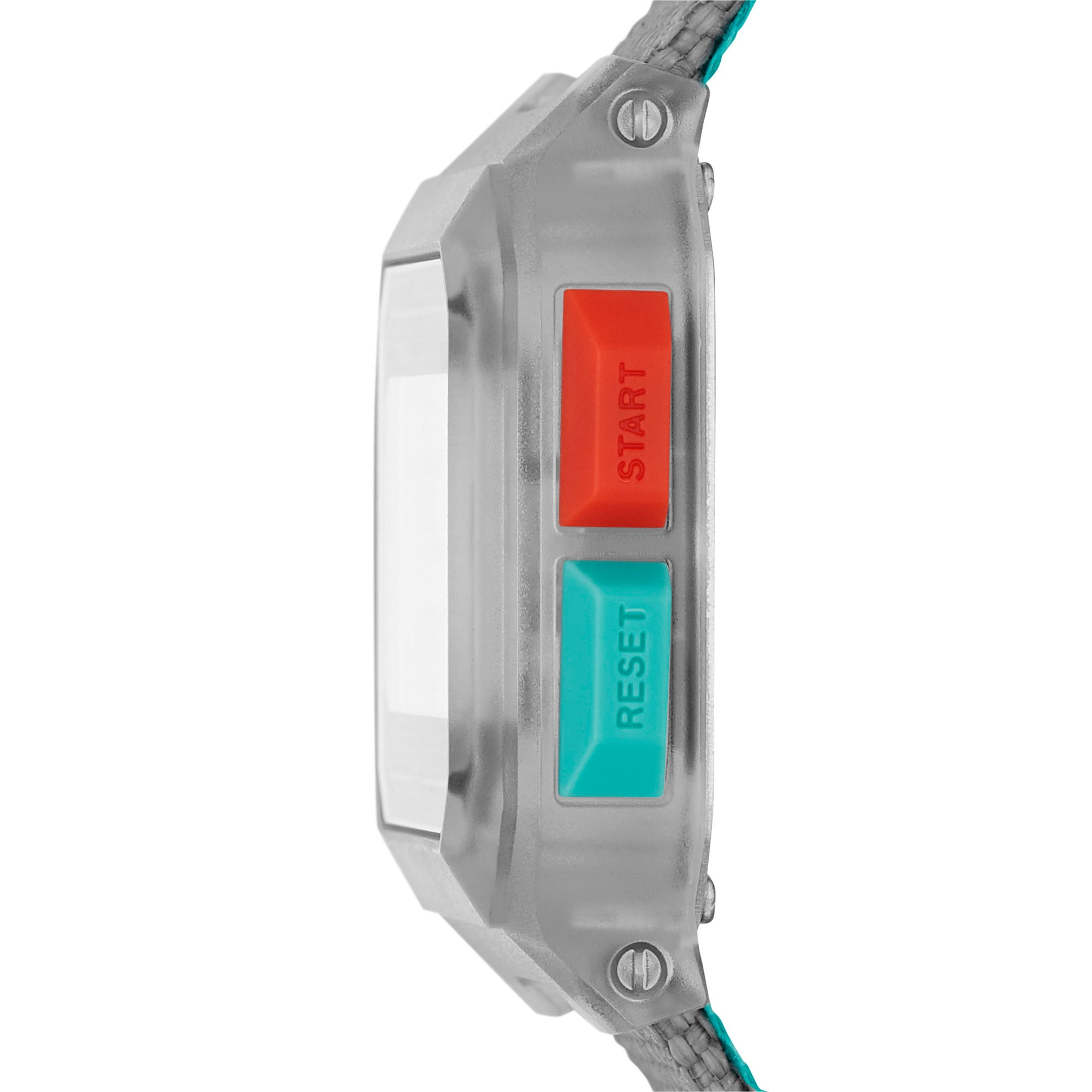 Thumbnail 3 of Remix Gray Nylon Digital Watch, Clear/Gray, medium