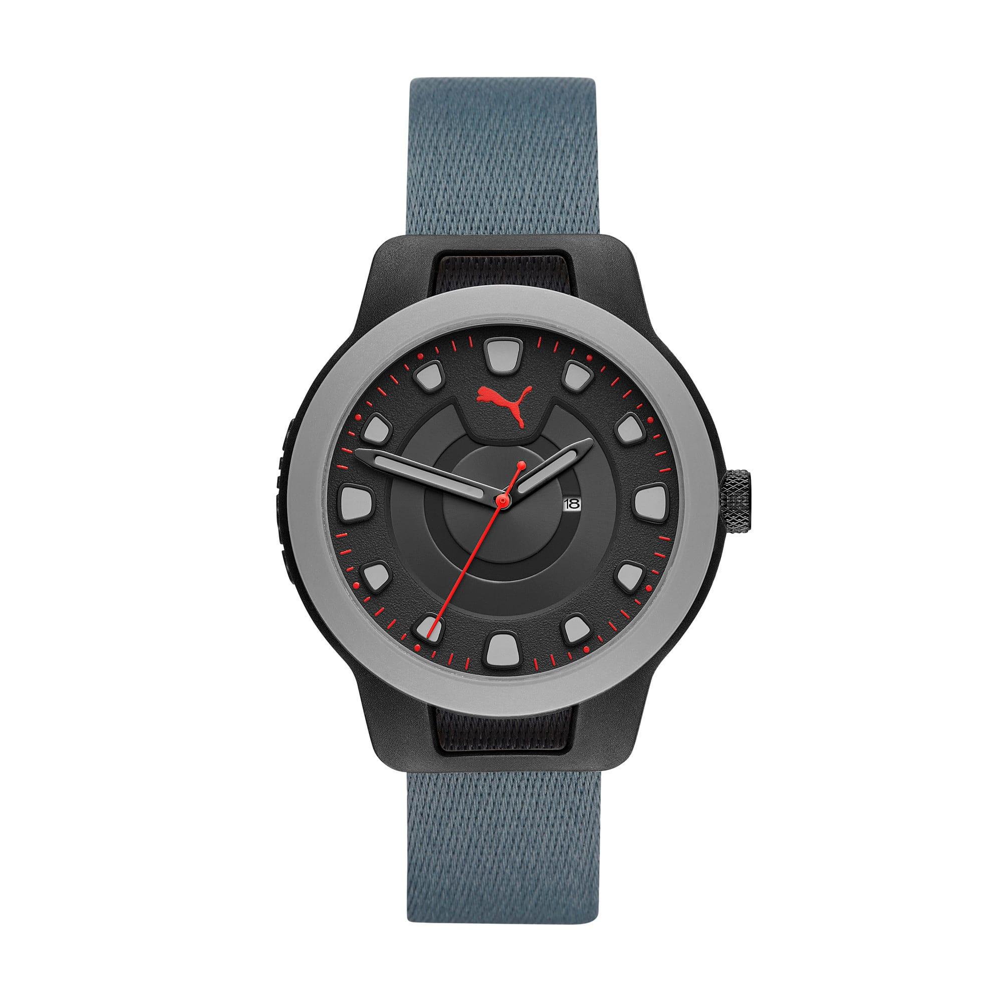 Thumbnail 1 of Reset v1 Reversible Watch, Blue/Red, medium