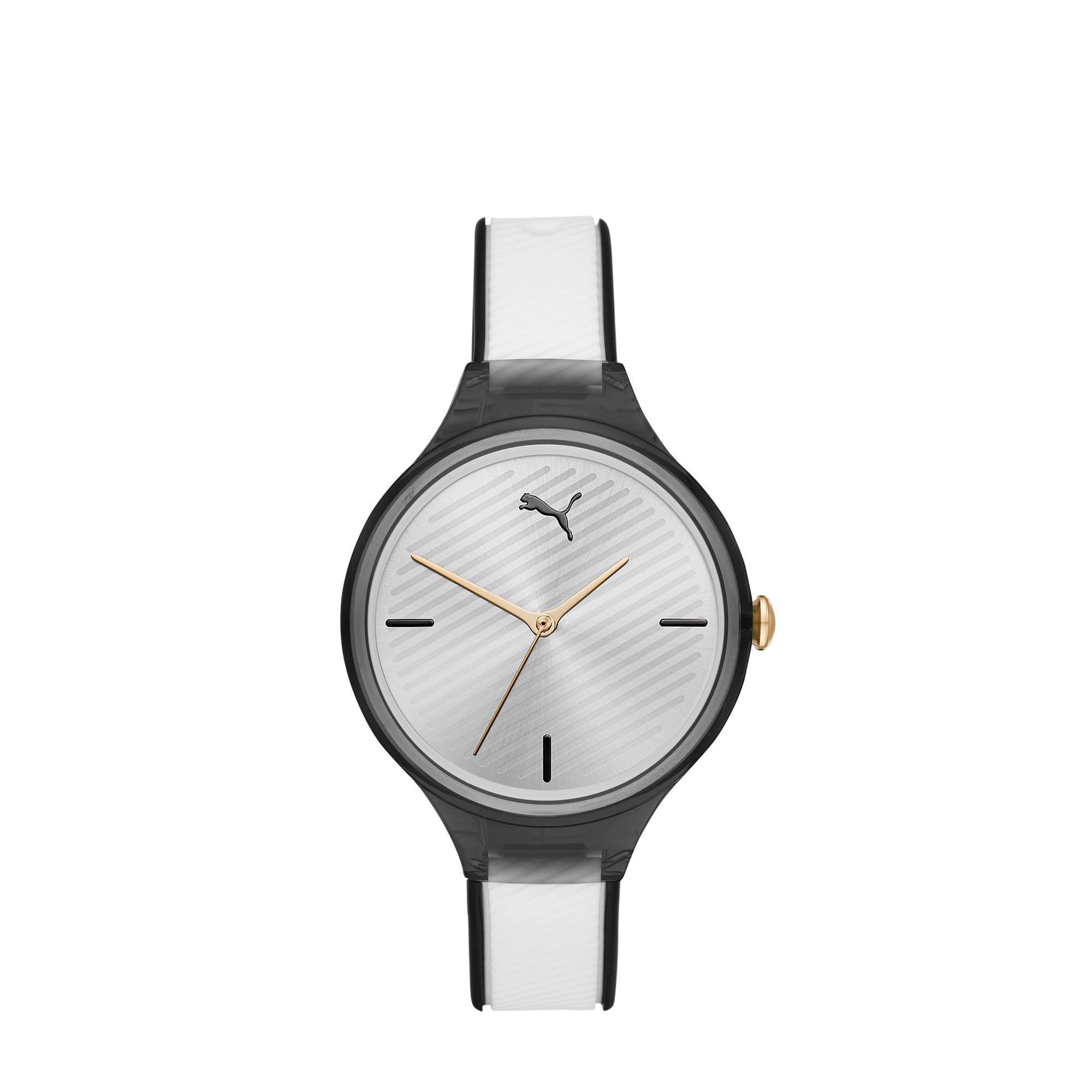Thumbnail 1 of CONTOUR Ultra Slim Women's Watch, Black/White, medium