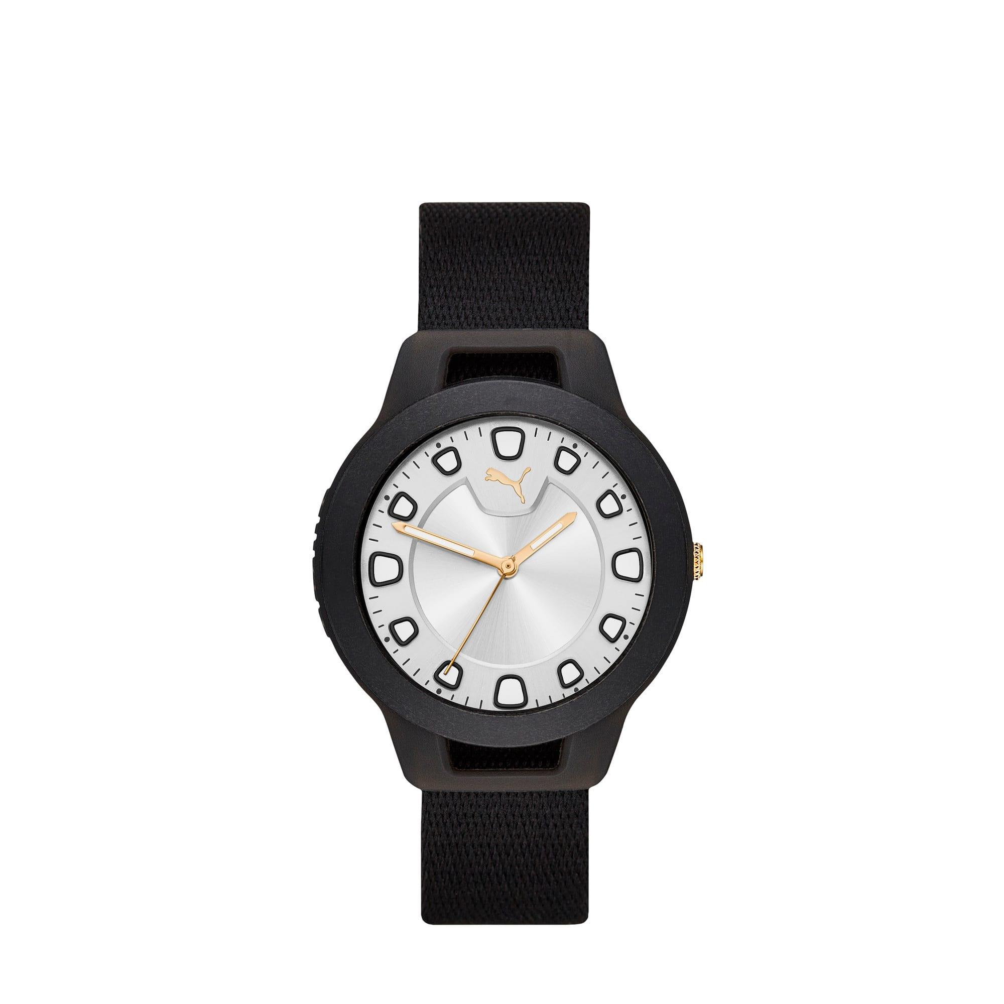 Thumbnail 3 of RESET V1 Woven Reversible Women's Watch, Black/White, medium