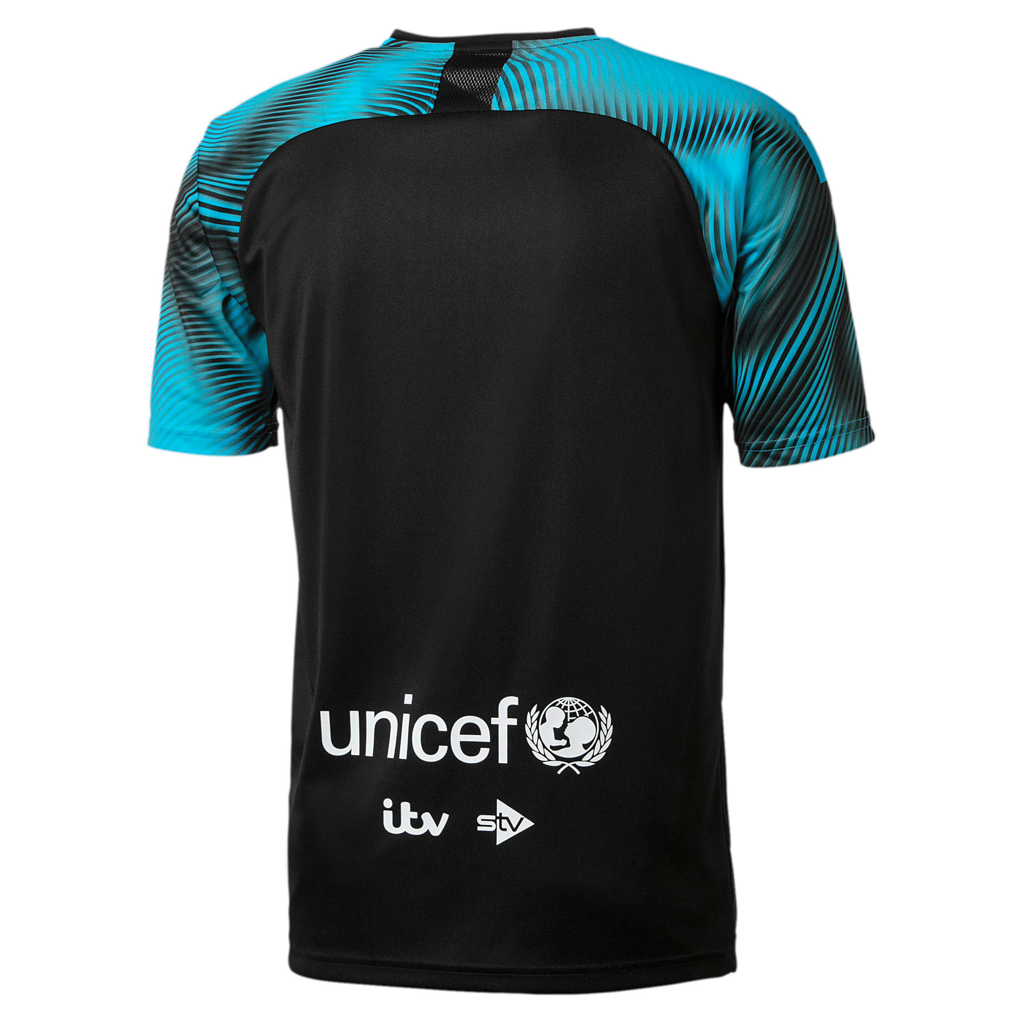 Soccer Aid World XI 2019 Jersey, Black and Cyan, large