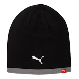 Football Reversible Beanie, Puma Black-Grey Dawn, small-IND