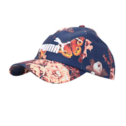 Graphic Baseball Cap, Peacoat-Flower AOP, small-IND