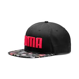 Flatbrim Cap, Puma Black-Graphic, small