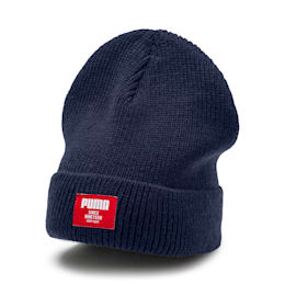 Classic Ribbed Beanie, Peacoat, small-IND