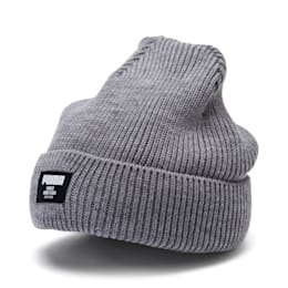 Classic Ribbed Beanie, Medium Gray Heather, small-IND