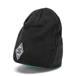 Borussia Mönchengladbach Reversible Beanie, Puma Black-Bright Green, small