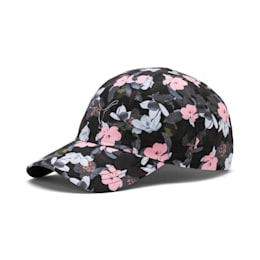 Women's Style Baseball Cap, Puma Black-floral AOP, small