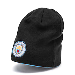 Man City Reversible Beanie, Puma Black-Team Light Blue, small