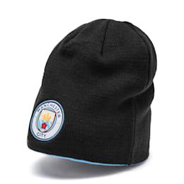Manchester City FC Wende-Beanie, Puma Black-Team Light Blue, small
