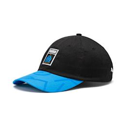 Olympique de Marseille DNA Baseball Cap, Bleu Azur-Puma Black-White, small