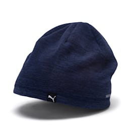 ACTIVE Fleece Beanie, Peacoat-heather, small
