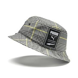 Prime Women's Bucket Hat, Puma Black-Tartan AOP, small-SEA