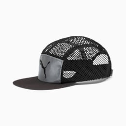 Foldable Trail Running Cap, Puma Black-Silver-reflective, small