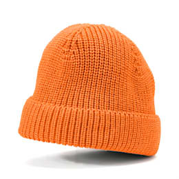 PUMA x HELLY HANSEN Beanie, Puma Black-Orange Popsicle, small