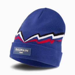 PUMA x BALMAIN Beanie, Mazarine Blue, small-SEA