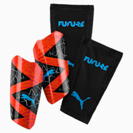 FUTURE 19.2 Shin Guards, Red Blast-Black-Bleu Azur, small