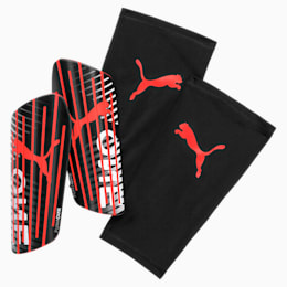 PUMA ONE 1 Shin Guards, Black-Nrgy Red-White, small