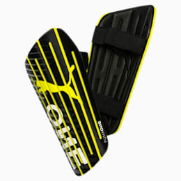 PUMA ONE 5 Shin Guards, Black-Yellow Alert-White, small