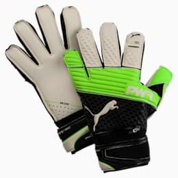 evoPOWER Protect 1.3 Soccer Goalkeeper Gloves, Green Gecko-Black-White, small