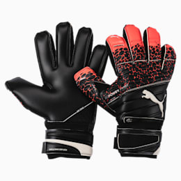 evoPOWER Protect 1.3 Soccer Goalkeeper Gloves, Fiery Coral-Black-White, small