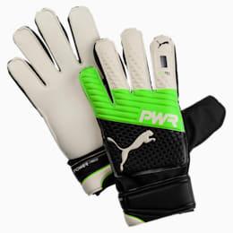 evoPOWER Protect 3.3 Football Goalie's Gloves, Green Gecko-Black-White, small-IND