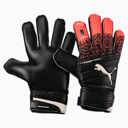 evoPOWER Protect 3.3 Goalkeeper Gloves, Fiery Coral-Black-White, small